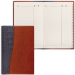 Телефонная книга Brauberg Cayman А5, черно-коричневая, 96 листов, кожзам