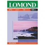 Фотобумага для струйных принтеров Lomond А4, 100 листов, 170 г/м2, матовая, двусторонняя