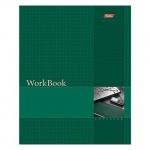 Тетрадь общая Hatber WorkBook зеленая, А5, 96 листов, в клетку, на сшивке/склейке, мелованный картон
