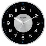 Часы настенные Scarlett SC-55E черные, d=32см, круглые