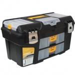 """Ящик для инструментов Idea Гефест 21"""", пластик, черно-желтый"""