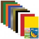 Цветной картон Staff 10 цветов, А4, 10 листов, волшебный