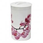 Банка для сыпучих продуктов Idea Орхидея 1л, пластик, с плотно прилегающей крышкой