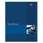 Тетрадь общая Hatber WorkBook синяя, А5, 96 листов, в клетку, на сшивке/склейке, мелованный картон