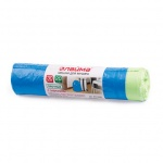 Мешки для мусора Лайма Прочные 30л, синие с завязками, 12мкм, 20шт/уп