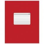 Тетрадь общая Hatber красная, А5, 48 листов, в клетку, на скрепке, мелованный картон