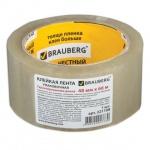 Клейкая лента упаковочная Brauberg прозрачная, 48мм х 66м, 45мкм