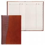 Телефонная книга Brauberg Cayman А5, коричневая, 96 листов, кожзам