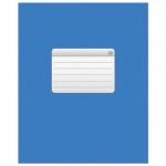 Тетрадь общая Hatber синяя, А5, 48 листов, в клетку, на скрепке, мелованный картон