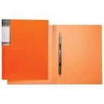 Скоросшиватель пружинный Hatber неоново-оранжевый