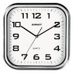 Часы настенные Scarlett SC-WC1003O белые, 30х30см, квадратные