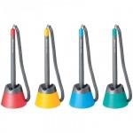 Ручка шариковая настольная Munhwa Stop Pen S2 черная, 0.7мм, ассорти корпус
