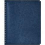 Блокнот Office Space Sidney синий, А5, 80 листов, в клетку, на спирали, искусственная кожа