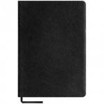 Блокнот Office Space City vintage черный, А5, 80 листов, в клетку, на сшивке, искусственная кожа, с ляссе