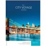 Блокнот Office Space Города City voyage, А4, 160 листов, в клетку, на сшивке, ламинированный картон, твердый переплет, 5-цветный блок