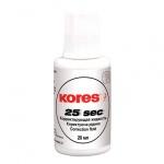 Корректирующая жидкость Kores 20мл, с кисточкой, быстросохнущая