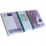 Декоративное украшение Принт Торг Забавная пачка. 500 euro