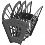 Лоток для бумаг Стамм А4, 5 секций, черный, ЛТ414