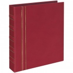 Альбом для монет Office Space Optima-Standard на 325 монет, 10 листов, 230х270мм, искусственная кожа, бордовый