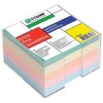 Блок для записей непроклеенный в подставке Стамм 5 цветов в прозрачном боксе, 80х80мм