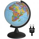Глобус политический Глобусный Мир 21см, на круглой подставке, с подсветкой