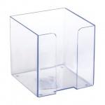 Подставка для бумажного блока Стамм ПЛ41 прозрачная, 9х9х9см, пластик