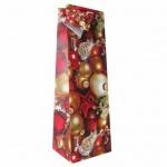 Пакет подарочный новогодний 10x9x33см, EUX/140501