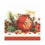 Салфетки Daisy Красные шары, 33х33см, 3 слоя, 20шт/уп