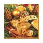 Салфетки Daisy Рождественский натюрморт, 33х33см, 3 слоя, 20шт/уп
