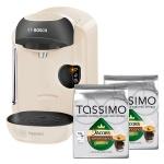 Кофемашина капсульная Bosch Tassimo Amia TAS 1254, 1300 Вт, белая, капсулы в комплекте