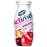 Кисломолочный напиток Актимель вишня-черешня-ибирь, 2.5%, 100г х 6шт