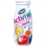 Кисломолочный напиток Актимель лесные ягоды-липа, 2.5%, 100г х 6шт