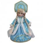Декоративная кукла Феникс Презент Снегурочка Верочка 30см, голубая