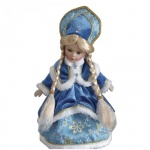 Декоративная кукла Феникс Презент Снегурочка Оленька 30см, синяя