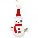 Елочная игрушка Вельт Снеговик 15см, стекло
