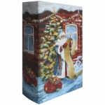 Декоративная шкатулка Феникс Презент Дед Мороз со списком, 17х11х5см