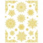 Наклейка на окно Яркий Праздник Снежинки золотые 4, 30х38см