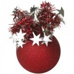 Елочный шар Пластиндустрия Праздничный 75мм, красный, пластик