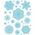Наклейка на окно Яркий Праздник Снежинки голубые 5, 30х38см