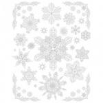 Наклейка на окно Феникс Презент Снежинки серебряные 3, 30х38см