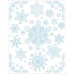 Наклейка на окно Феникс Презент Снежинки голубые 3, 30х38см