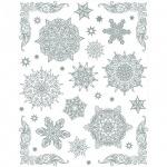 Наклейка на окно Яркий Праздник Снежинки серебряные 4, 30х38см