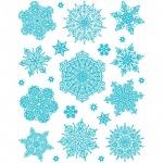 Наклейка на окно Яркий Праздник Снежинки голубые 3, 30х38см