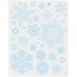 Наклейка на окно Феникс Презент Снежинки голубые 2, 30х38см