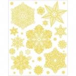 Наклейка на окно Феникс Презент Снежинки золотые 2, 30х38см