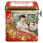 Чай Hilltop Рождественский бал Земляника со сливками, черный, листовой, 100г, музыкальная шкатулка