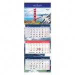 Календарь квартальный Office Space Elite Мосты, 3х-бл., 4гр., с бегунком