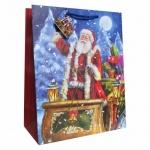 Пакет подарочный Новогодний 33x45.5x10 см, EUX/140404