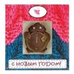 Шоколадная фигурка Русский Марципан Петушок с часами 15г