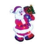 Панно светодиодное B&h Дед Мороз с елочкой, 35 лампочек, 35х3.5х50.5см